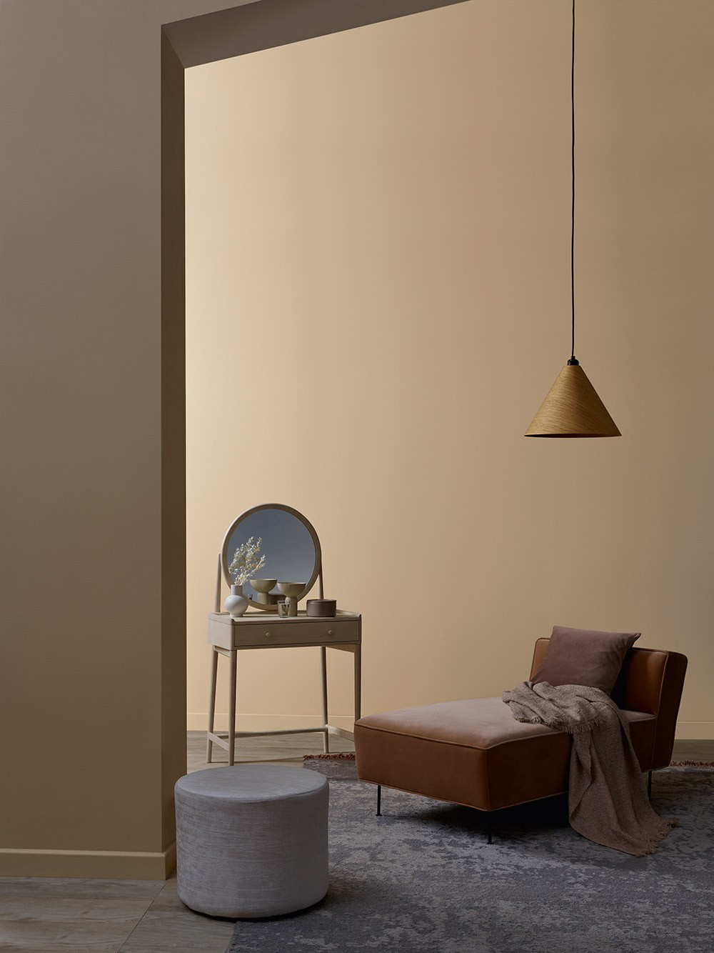 Delicate dusk look with furniture